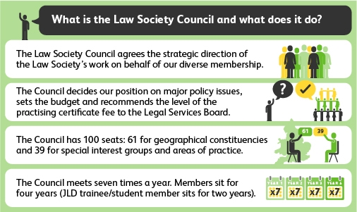 Image Showing the Law Society Council Structure