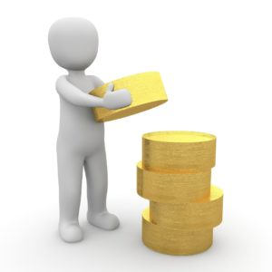 Image for Conveyancing - First Time Buyer - Man with stack of coins