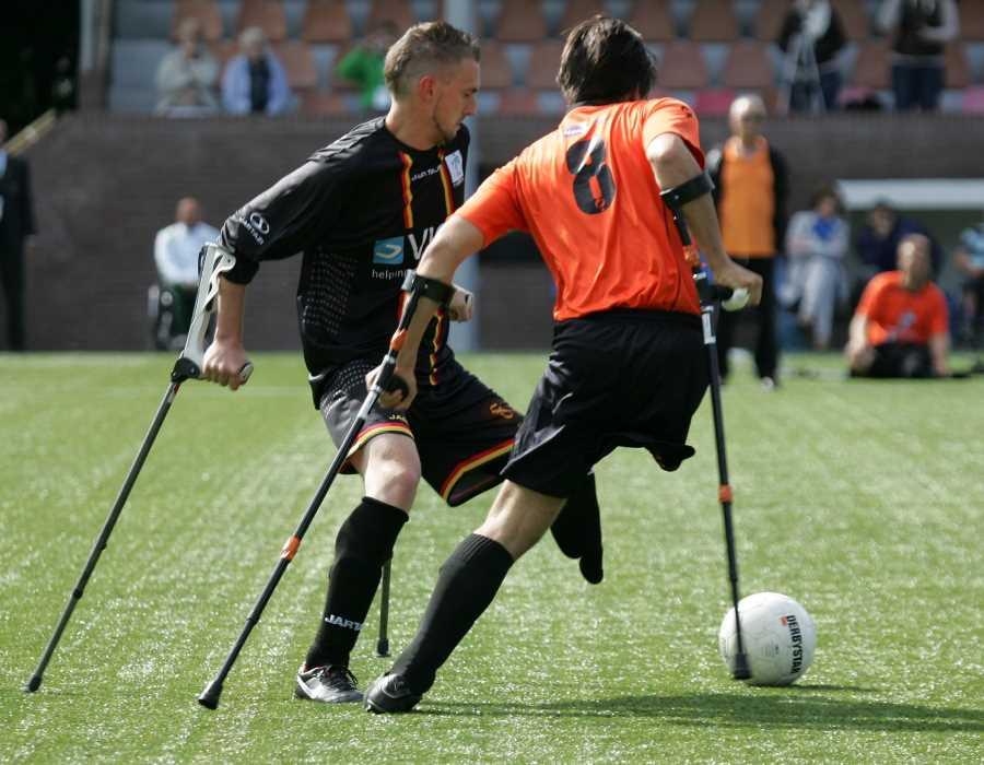 Image - Amputees playing football