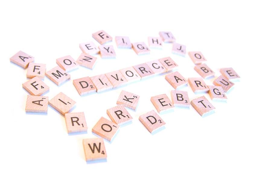 Image for Divorce Article - Divorce spelt in tiles