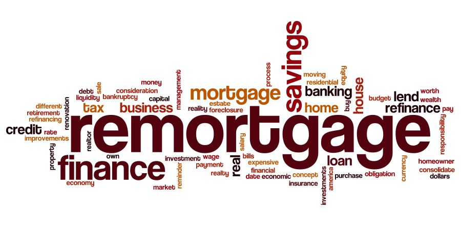 Remortgage word cloud image