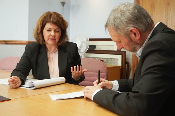 Iamge of Top Plymouth Lawyer - Rachel Shoheth Being Interviewed